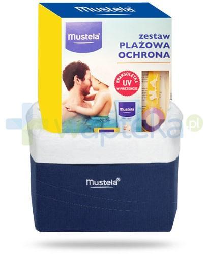 Mustela Plażowa Ochrona ZESTAW mleczko SPF50+ 100 ml + spray po opalaniu 125 ml + bransoletka UV