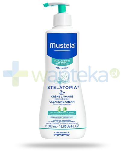 Mustela Stelatopia krem myjący do skóry skłonnej do atopii od dnia narodzin 500 ml