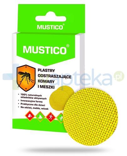 Mustico plastry odstraszające komary i meszki 12 sztuk