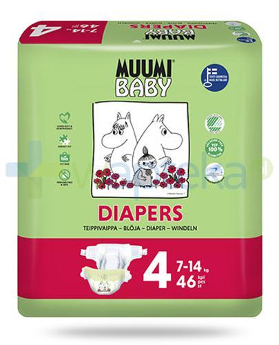 Muumi Baby 4 Diapers 7-14kg jednorazowe pieluszki dla dzieci 46 sztuk