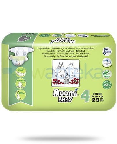 Muumi Baby 4 Maxi 7-14kg jednorazowe pieluszki dla dzieci 23 sztuki