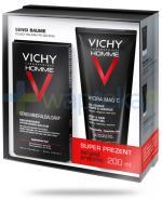 Vichy Homme Sensi Baume mineralny balsam kojący po goleniu 75 ml + Vichy Homme Hydra Mag C żel pod prysznic do ciałą i włosów 200 ml [ZESTAW]