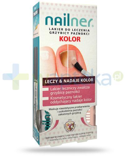 Nailner Kolor lakier leczniczy 5 ml + kosmetyczny lakier oddychający 5 ml [ZESTAW]