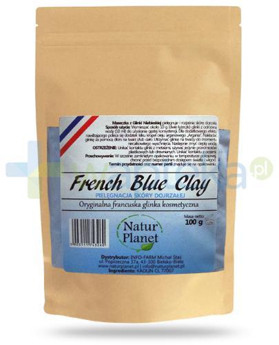 Natur Planet French Blue Clay francuska niebieska glinka kosmetyczna do skóry dojrzałej, proszek 100 g