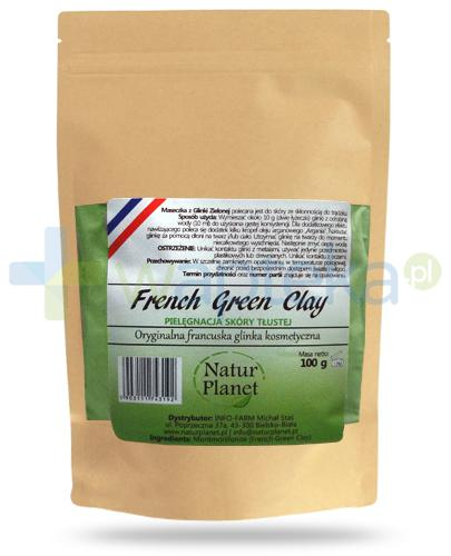 Natur Planet French Green Clay francuska zielona glinka kosmetyczna do skóry tłustej, proszek 100 g