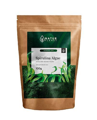 Natur Planet Spirulina Algae 100% naturalne algi morskie, maseczka ze spiruliny na twarz 100 g