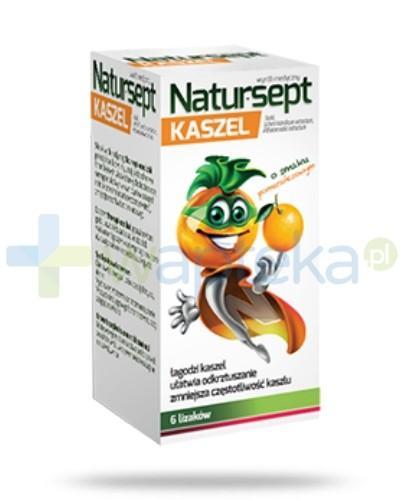NaturSept Kaszel lizaki o smaku pomarańczowym 6 sztuk