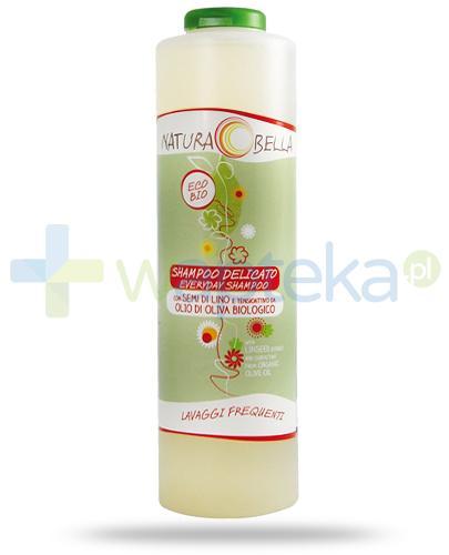 Naturabella delikatny szampon z siemieniem lnianym i oliwą z oliwek do częstego stosowania 500 ml