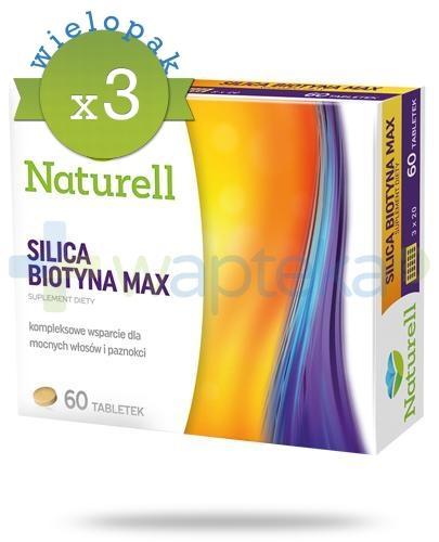 Naturell Silica Biotyna Max 3 x 60 tabletek [TRÓJPAK]