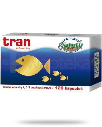 Naturell tran 250mg z witaminami A, D i E i kwasami omega-3 120 kapsułek