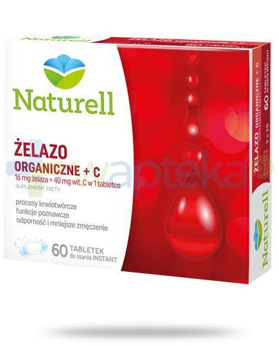 Naturell Żelazo organiczne + witamina C 60 tabletek