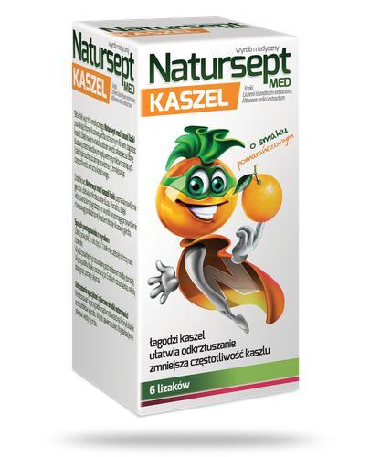 NaturSept MED Kaszel lizaki o smaku pomarańczowym 6 sztuk