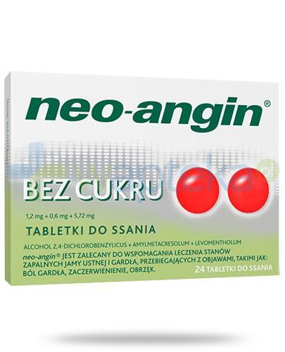 Neo-Angin bez cukru 24 tabletki