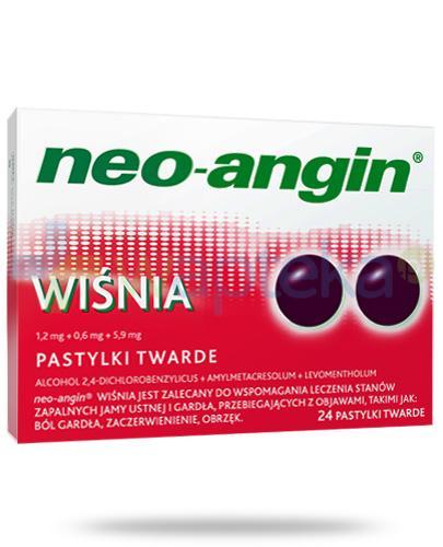 Neo-Angin Wiśnia na ból gardła 24 pastylki