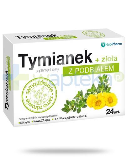 NeoPharm Tymianek z podbiałem + zioła 24 pastylki