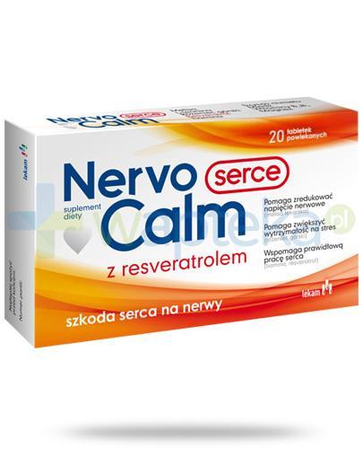 NervoCalm Serce z resveratrolem 20 tabletek powlekanych [Data ważności 31-01-2019]