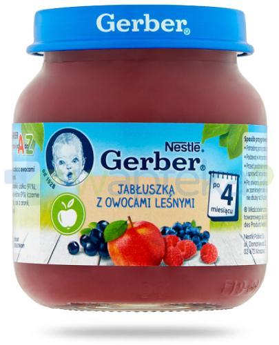 Nestlé Gerber Deserek Jabłuszka z owocami leśnymi po 4 miesiącu 125 g