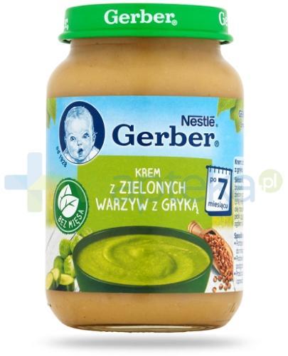 Nestlé Gerber Krem z zielonych warzyw z gryką po 7 miesiącu 190 g
