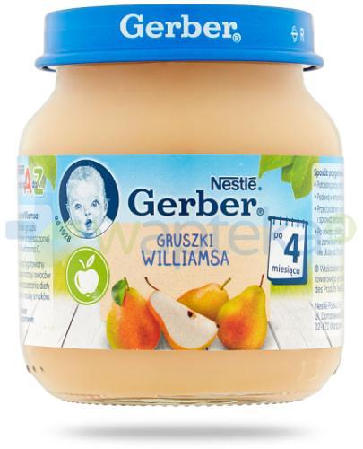 Nestlé Gerber Moja pierwsza łyżeczka Gruszki Williamsa po 4 miesiącu 125 g