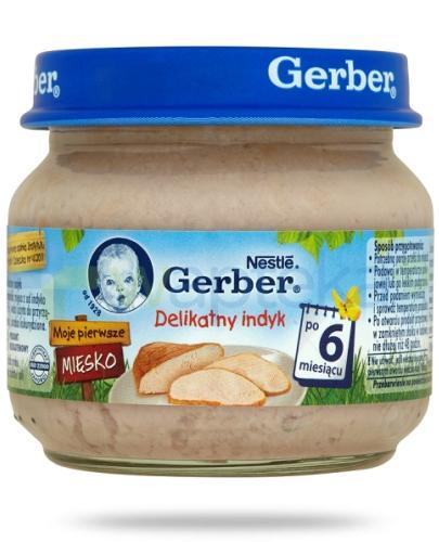 Nestlé Gerber Moje pierwsze mięsko Delikatny indyk po 6 miesiącu 80 g