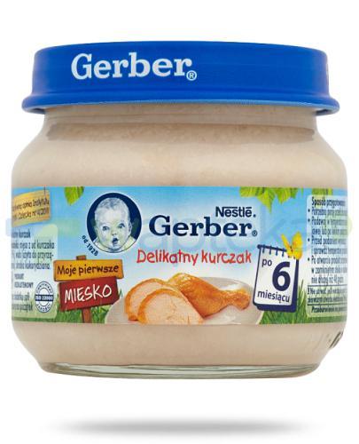 Nestlé Gerber Moje pierwsze mięsko Delikatny kurczak po 6 miesiącu 80 g