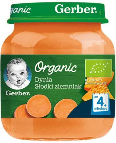 Nestlé Gerber Organic Dynia słodki ziemniak po 4 miesiącu 125 g