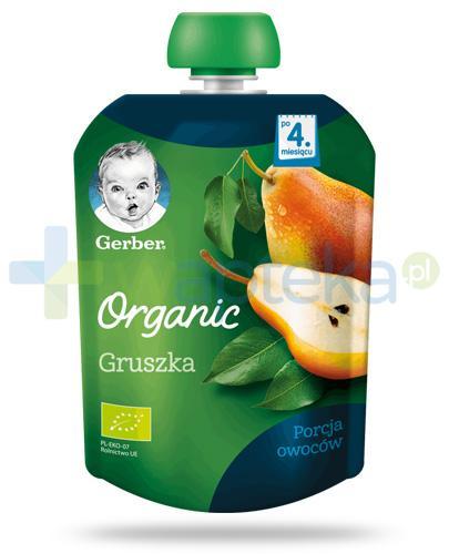 Nestlé Gerber Organic Gruszka deserek owocowy dla dzieci 4m+ 90 g [KUP 4 sztuki produktu = łyżeczka GRATIS]