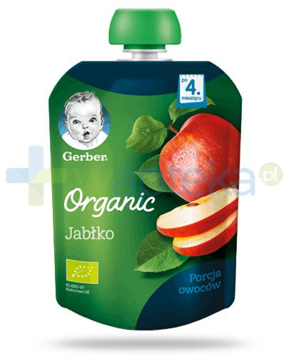 Nestlé Gerber Organic Jabłko deserek owocowy dla dzieci 4m+ 90 g [Data ważnosci 31-05-2019]