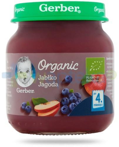 Nestlé Gerber Organic Jabłko jagoda po 4 miesiącu 125 g