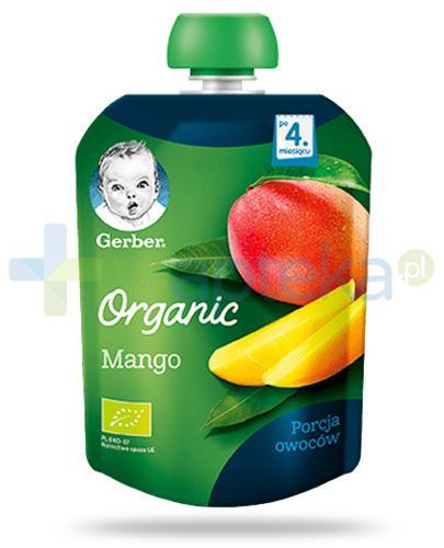 Nestlé Gerber Organic Mango deserek owocowy dla dzieci 4m+ 90 g [KUP 4 sztuki produktu = łyżeczka GRATIS]