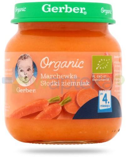 Nestlé Gerber Organic Marchewka słodki ziemniak po 4 miesiącu 125 g