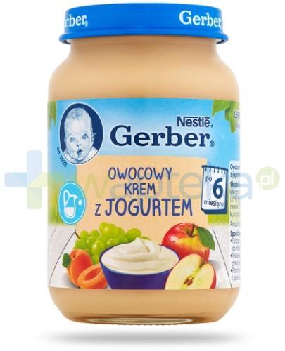 Nestlé Gerber Owocowy krem z jogurtem po 6 miesiącu 190 g