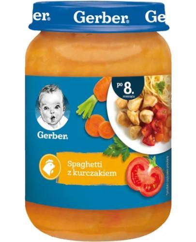 Nestlé Gerber Spaghetti z kurczakiem po 8 miesiącu 190 g