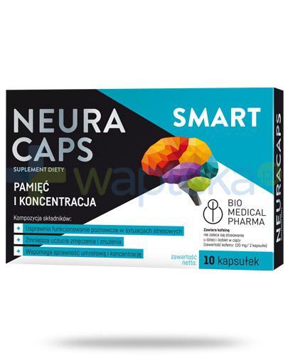 NeuraCaps Smart Pamięć i koncentracja 10 kapsułek