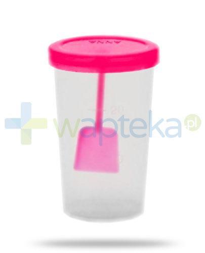 New Anna sterylny pojemnik z wieczkiem i łopatką do analizy kału 20 ml