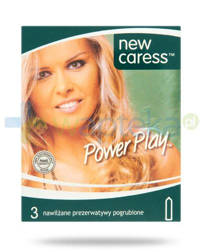 New Caress Power Play prezerwatywy 3 sztuki