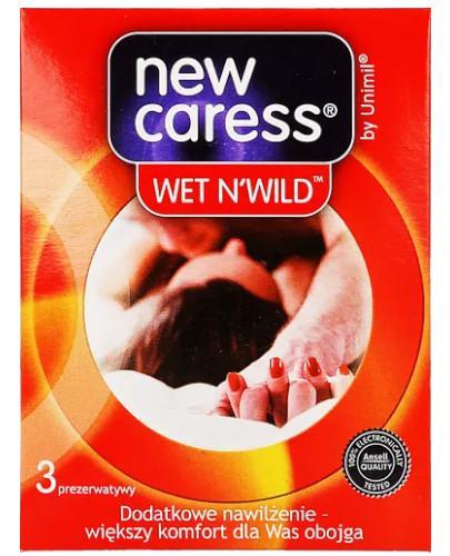 New Caress Wet & Wild prezerwatywy 3 sztuki