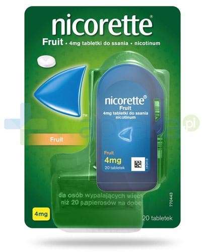 Nicorette Fruit 4mg 20 tabletek do ssania