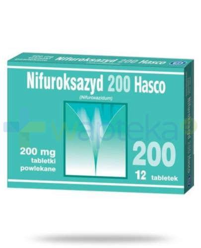 Nifuroksazyd 200mg 12 tabletek powlekanych Hasco
