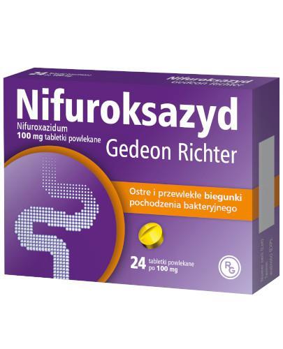 Nifuroksazyd Gedeon Richter 100mg 24 tabletki