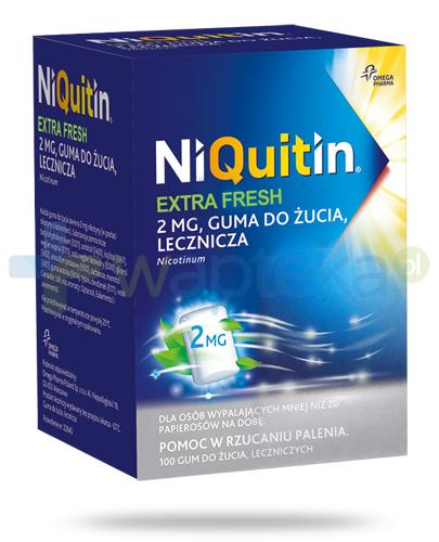 NiQuitin Extra Fresh 2mg lecznicza guma do żucia 100 sztuk