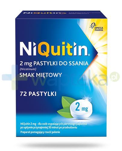 Niquitin pastylki do ssania 2mg 72 sztuk - Data ważności 30-11-2017