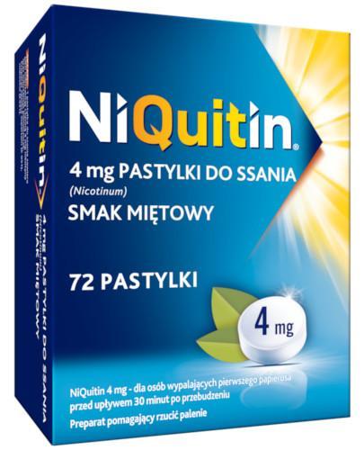 Niquitin pastylki do ssania 4 mg 72 sztuki