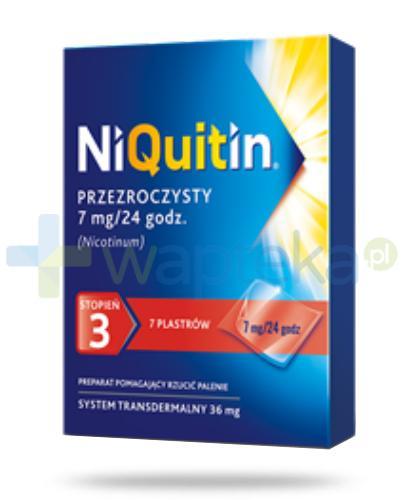 NiQuitin System transdermalny 36mg stopień 3 7mg/24h plastry przezroczyste 7 sztuk
