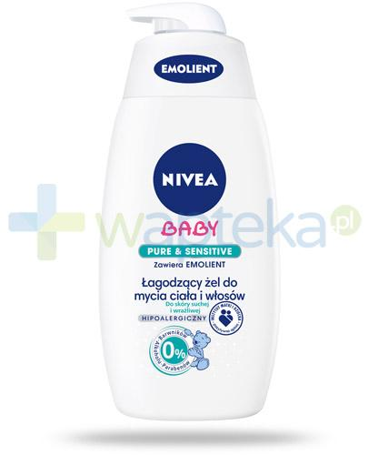 Nivea Baby Pure&Sensitive łagodzący żel do mycia ciała i włosów 500 ml