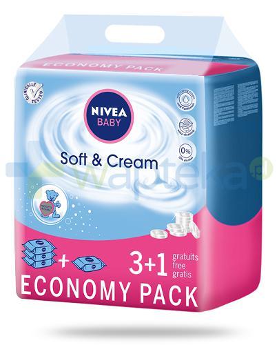 Nivea Baby Soft & Cream chusteczki oczyszczające dla dzieci 4x 63 sztuki