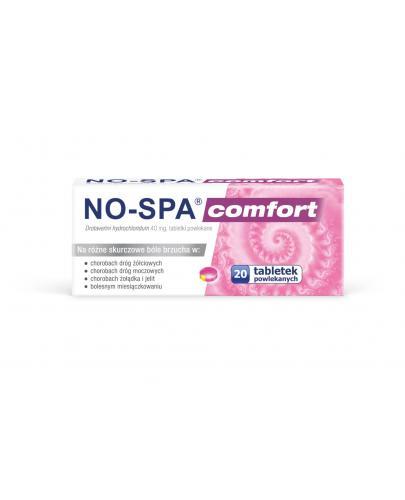 No-Spa Comfort na ból brzucha, skurcze 20 tabletek powlekanych