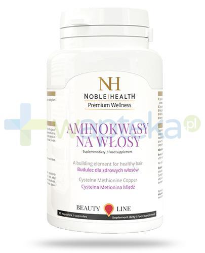 Noble Health Aminokwasy na włosy 60 kapsułek