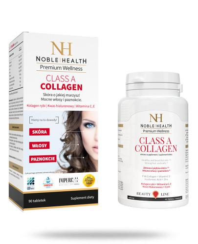 Noble Health Class A Collagen kolagen 90 tabletek [KUP 2 sztuki produktu = 30 tabletek GRATIS]