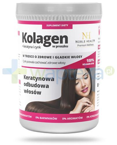 Noble Health Kolagen + keratyna i cynk, proszek 100 g